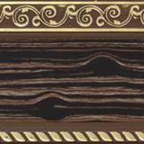 Бленда 70мм Есенин зебрано шоколад с золотом (25м)