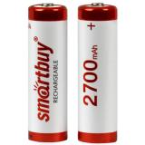 Батарейка AA Пальчиковая 1,5V NiMh аккумуляторная 2700mAh Smartbuy (блистер 2шт) (24/240)