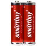 Батарейка AA Пальчиковая 1,5V LR6 Alkaline (2шт) Smartbuy (24/240)