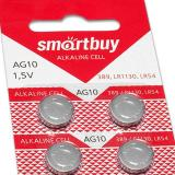 Батарейка таблетка AG10-10B Smartbuy (10/200/2000)