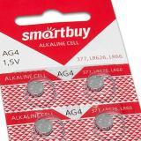 Батарейка таблетка AG4-10B Smartbuy (10/200/2000)