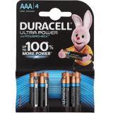 Батарейка AAA Мизинчиковая 1,5V UltraPower  4шт/упак (10) DURACELL