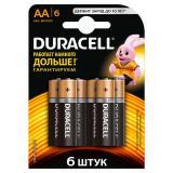 Батарейка AA Пальчиковая 1,5V LR6 Basic Alkaline  6шт/упак (10) DURACELL