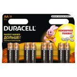 Батарейка AA Пальчиковая 1,5V LR6 Basic Alkaline  8шт/упак (12) DURACELL