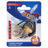 Выключатель для настенного светильника c проводом и деревянным наконечником Silver REXANT