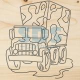 Доска для выжигания «Машина Грузовик»