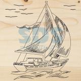 Доска для выжигания «Корабль Парусник»