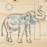 Доска для выжигания «Слон»