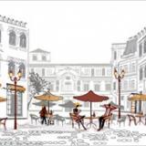 Фартук ПВХ Уличное кафе 600*3000*1,3мм (5)