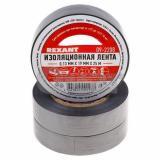 Изолента ПВХ 19 мм х 25 м серая (5) REXANT