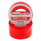 Изолента ПВХ 19 мм х 25 м красная (5) REXANT