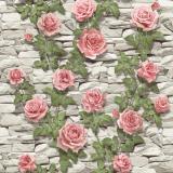 4680 Садовая роза (бело-роз) обои влагост. на бум.основе 0,53*10 (Гомель Фокс) 24