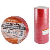 Изолента ПВХ 0,18х19мм Красная 20м TDM