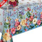 240 D клеёнка Dekorama 1,4*20м (цветы на голубом)