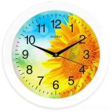 Часы настенные кварцевые ENERGY модель ЕС- 97 подсолнух