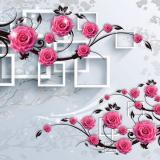 Ф Розовая ветвь 3Д Фотообои на флиз. основе 300х270 см (Тула)