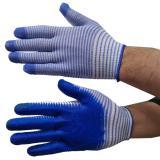 Перчатки х/б облитые в полоску (12) НК