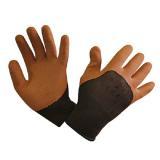 Перчатки нейлоновые облитые оранжевые E10 (12) НК