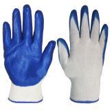 Перчатки нейлоновые облитые нитрилом синие/оранжевые (12)