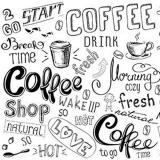 Фартук ПВХ Кофейная графика 600*3000*1,3мм (5)