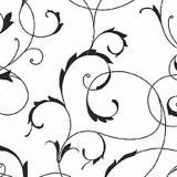 008195 пленка самоклеющаяся (орнамент черно-белый) 0,45*2м (Скрап) 20