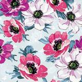 008196 пленка самоклеющаяся (цветы роз-голубой) 0,45*2м (Скрап) 20