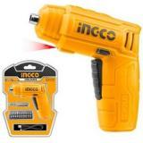 Отвертка аккумуляторная INGCO 4Вт, 180об/мин+остнаска