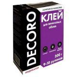 Клей обойный Decoro винил 300гр (9-10 рул) (30)