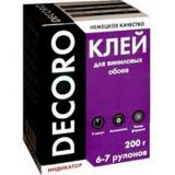 Клей обойный Decoro винил 200гр (6-7 рул) (30)