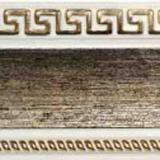 Бленда 68мм Версаче/Меандр №24 серебро на белом (60м)
