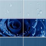 Панель ПВХ Unique Капли росы синий 2700*250*8мм (12)