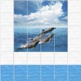 Панель ПВХ Unique Дельфины 2700*250*8мм (12)