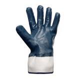 Перчатки х/б полный облив нитрилом,синие,на мягком манжете МБС (12/108)