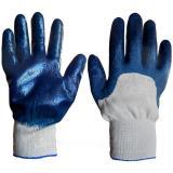 Перчатки х/б с нитриловым обливом ЛАЙТ синие  (300)