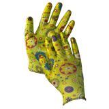 Перчатки нейлоновые полиуретанов облив рисунок женские цветные (120/960)
