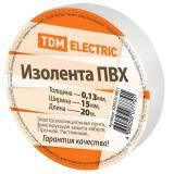 Изолента ПВХ 0,13*15мм белая 20м (240) TDM