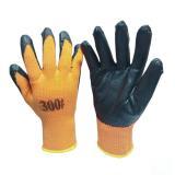 Перчатки утепл. Зима акрил, облитые вспененным латексом, оранж (480)