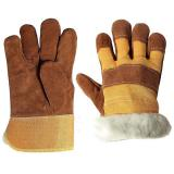 Перчатки утепл. Зима спилковые Ангара с иск.мехом (400)