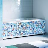 Экран для ванны 1,5м Оптима Decor мозаика синяя 1480х496х29 (4)