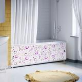 Экран для ванны 1,5м Оптима Decor геометрия круги лиловые 1480х496х29 (4)