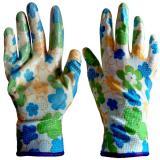 Перчатки  цветные нейлоновые нитрил.прозрач.облив (120)