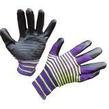 Перчатки нейлоновые облитые (рифленные) голубые/оранжевые (960)