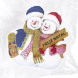 Декор новогодний светящ. на липучке «Два снеговика» (Китай)