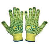 Перчатки х/б полный облив нитрилом,синие, манжет - крага (МБС) (12)